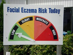 Facial Eczema Risk Today? Low! (tm-tm) Tags: newzealand sign danger risk nz signage northisland northland aotearoa eczema oceania