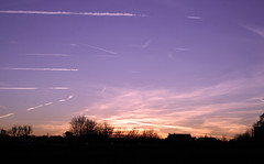 lines in the sky (rossellavanon) Tags: sunset sky london lines airplanes cluds woodgreen