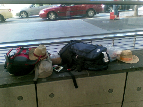 Baggage at Southern Cross Station