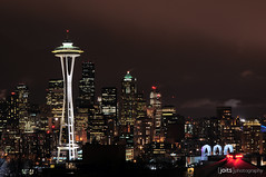 iconic seattle (Joits) Tags: seattle travel vacation skyline washington spaceneedle kerrypark keyarena 80200mmf28d