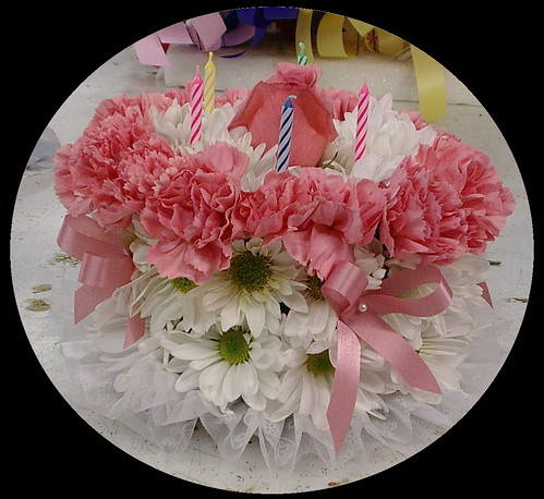 birthday cake flower