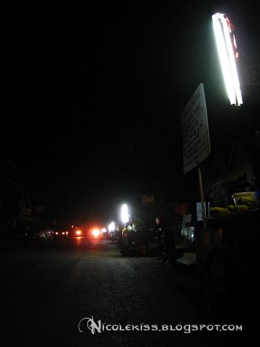 vang vieng at night with power cut