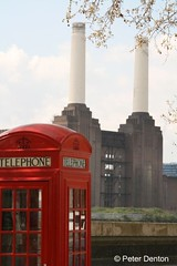 London icons (Peter Denton) Tags: red music london architecture catchycolors icons phonebooth telephone cities landmarks eu pinkfloyd 1970s battersea industriallandscape telephonebox powerstations degeneration londonist lifeisart cityicons popicons canoneos400d ysplix supergroups peterdenton