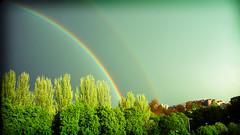 doble arco iris desde mi ventana (lomonowski) Tags: arcoiris rainbow doublerainbow doblearcoiris
