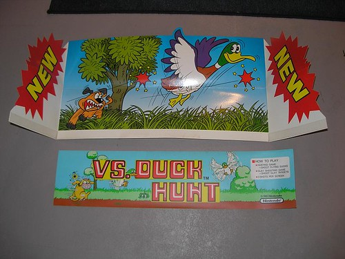 Nos Nintendo Vs Duck Hunt Marquee Topper 40 Ship Klov