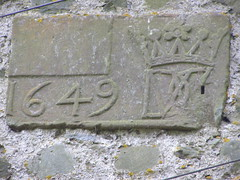 Date on Wall Crawford Castle
