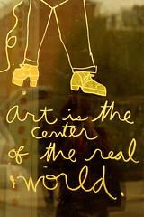 centre of the real world (jasfitz) Tags: selfportrait art writing shoes folk scrawl philly platforms realworld