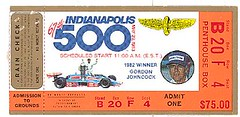 Indy ticket