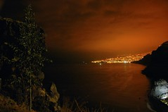 funchal at night (allesaktuell) Tags: street city sea sky people sun mountain holiday mountains tree grass rock night clouds plane island lights coast stones madeira funchal