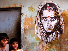 C215 - New Delhi (C215) Tags: street new india streetart art french graffiti stencil delhi christian bagh karol pochoir masacara szablon c215 schablon gumy piantillas