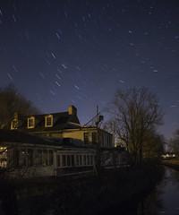 Odettes Star Trails (• estatik •) Tags: odette odettes newhope pa pennsylvania bucks county abandoned canal night startrails stars dark empty haunted