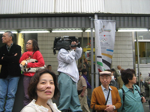 Big video camera during Sanja Matsuri