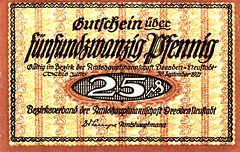 Dresden, Neustadt, 25 pf, 1921 (Iliazd) Tags: notgeld germaninflationarycurrency emergencymoney germanpapermoney