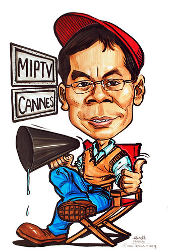Caricature for Media Development Authority Singapore Minister Lui Tuck Yew