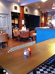 Interior of Lothian Road's Red Squirrel Bar