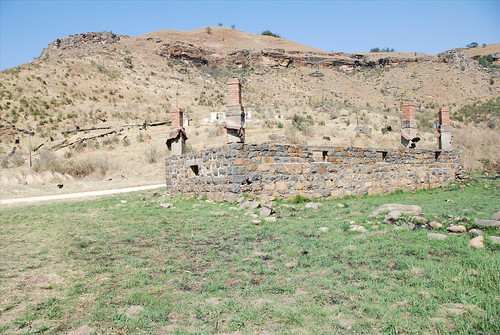 An old toll post along the Sani Pass
