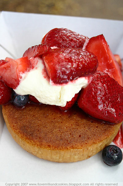 Almond Tart with Cream and Berries