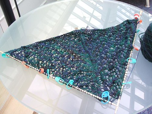 Peacock feathers shawl