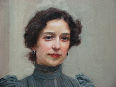 Clotilde con traje gris (detalle), 1900 (-Merce-) Tags: espaa geotagged arte pintura sorolla impresionismo museosorolla joaqunsorolla mmbmrs geo:lat=40435441 geo:lon=3692328