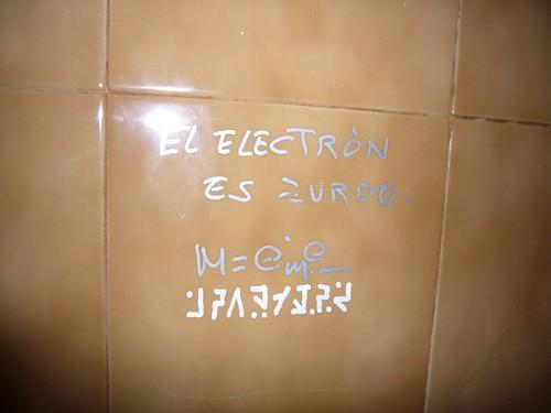 El electrón es zurdo
