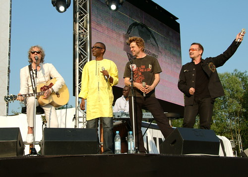 Geldof, Yous, Campino (Die Toten Hosen) y Bono