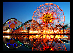 disneyland reflections (Miro-Foto) Tags: california county orange sun reflection wheel catchycolors pier topf75 bravo long exposure paradise disneyland ferris disney adventure anaheim topf100 soe screamin blueribbonwinner magicdonkey abigfave top20disney anawesomeshot ultimateshot superbmasterpiece diamondclassphotographer flickrdiamond world100f