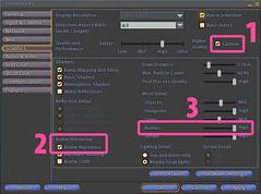 Tune Avatar Impostors distance - Second Life Graphics Preferences