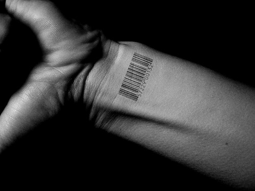 barcode tattoo. Bar Code Tattoo