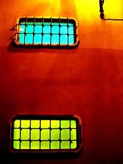 windows in a wall (alternativefocus) Tags: blue windows green wall bars pentax stockholm gamlastan lamo pentaxk10d trashbit alternativefocus windowsinawall