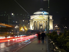 Gran Madre (Marcot77) Tags: longexposure winter italy night torino lights interestingness interesting movement italia raw traffic action bynight piemonte movimento inverno turin piedmont notturna 4s italians traffico granmadre explored granmadredidio aplusphoto visitpiedmont fz8 panasonicdmcfz8