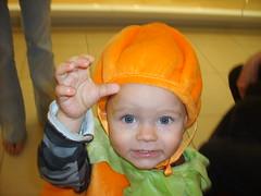 Trick or Treat (Little Spooks) Tags: boy orange baby white black green halloween animal mall pumpkin fun kid toddler infant child jackolantern son anderson skunk costum