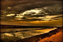 Golden Skies (YaserQ8) Tags: sunset sky water clouds river gold golden stream horizon kuwait aplusphoto superhearts colourartaward