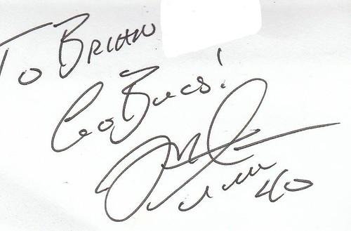 Mike Alstott autograph