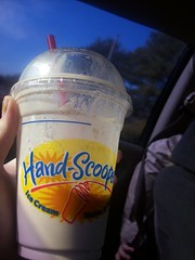 milkshake. (xrawrxxrawrx) Tags: ice car milk hand cream straw bubbles icecream shake milkshake hardees scooped