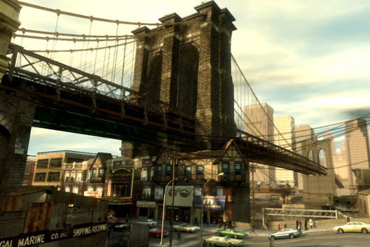 GTA IV Brooklyn Bridge