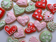 Mini Valentine's Cookies (nikkicookiebaker) Tags: cookies decorated