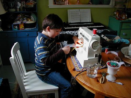 he bakes, he sews