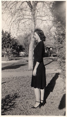 vintage: grandmother, 1940s (deflam) Tags: grandma arizona portrait woman phoenix lady vintage dress grandmother profile 1940s blackdress gilmer mayna