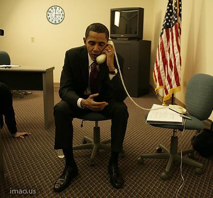 obama backwards phone