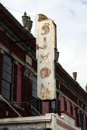 simon theatre sign