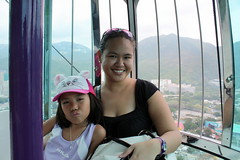 Darice and me in the cable car