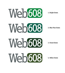 Web608 Logo Color Options