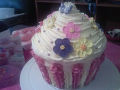 Giant cupcake for my birthday cake