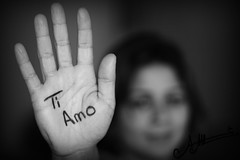 Ti Amo  (A.A.A) Tags: blackandwhite bw white black canon photography hand mark iii notme iloveyou aaa amna irresistible eos1ds althani canoneos1dsmarkiii amnaaalthani dedicatedtonas