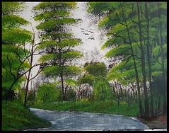 Kunst (claudia.Bos) Tags: kunst acryl malerei natur wasser wald