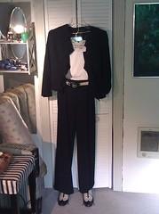 Anne Klein black trouser suit