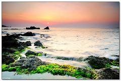 Giardini Naxos - Morning glory (ciccioetneo) Tags: sea summer vacation italy cliff seascape sunrise nikon holidays rocks italia view angle alba wide creative sigma commons cc filter 09 creativecommons sicily reverse 1020mm grad hitech sicilia messina naxos giardini rockscape giardininaxos tormina 06gnd d7000 ciccioetneo