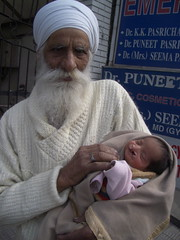 Grandfather and baby with cleft (ReSurge International) Tags: baby india children asia best health surgical ngo cleft w07 2007 interplast jalandhar