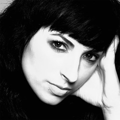 Lorena B/N (edgar-) Tags: portrait blackandwhite bw woman blancoynegro beauty face mujer eyes retrato olympus estudio bn e1