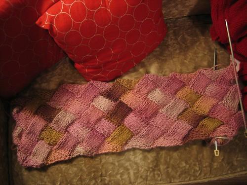 071201. entrelac scarf.